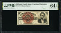 Fr. 1374 50¢ Fourth Issue Lincoln PMG Choice Uncirculated 64 EPQ