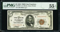 Fr. 1850-L $5 1929 Federal Reserve Bank Note. PMG About Uncirculated 55 EPQ