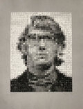 Prints & Multiples, Chuck Close (b. 1940). Keith I, 1981. Stenciled linen pulp on cotton base sheet, pigment. 24-3/4 x 1...