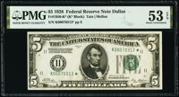 Fr. 1950-K* $5 1928 Federal Reserve Star Note. PMG About Uncirculated 53 EPQ