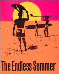 """Movie Posters:Sports, The Endless Summer (Personality Posters, 1966). Folded, Fine-. Trimmed Day-Glo Poster (27.5"""" X 35"""") John Van Hamersveld Artw..."""