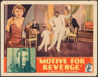 "Motive for Revenge (Majestic, 1935). Fine. Lobby Card (11"" X 14""). Crime"