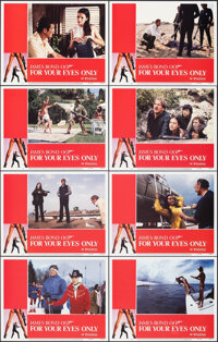"""For Your Eyes Only (United Artists, 1981). Very Fine+. Lobby Card Set of 8 (11"""" X 14""""). James Bond"""