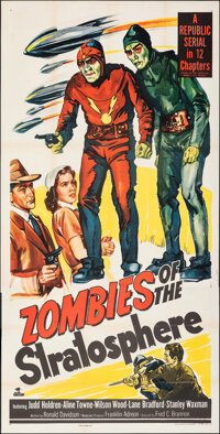 """Zombies of the Stratosphere (Republic, 1952). Folded, Very Fine-. Three Sheet (40.75"""" X 80""""). Serial"""