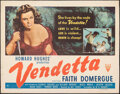 """Movie Posters:Crime, Vendetta & Other Lot (RKO, 1950). Folded, Fine+. Half Sheets (2) (22"""" X 28"""") Style B. Crime.. ... (Total: 2 Items)"""