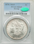 1878 7/8TF $1 Strong MS65 PCGS. CAC. PCGS Population: (368/31). NGC Census: (99/6). CDN: $1,550 Whsle. Bid for NGC/PCGS...