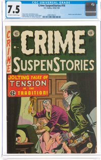 Crime SuspenStories #14 (EC, 1952) CGC VF- 7.5 Off-white to white pages