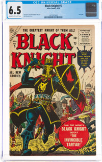 Black Knight #5 (Atlas, 1956) CGC FN+ 6.5 Cream to off-white pages