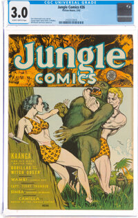 Jungle Comics #26 (Fiction House, 1942) CGC GD/VG 3.0 Slightly brittle pages