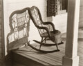 Photographs, Ralph Steiner (American, 1899-1986). Wicker chair, circa 1920s. Gelatin silver, printed later. 7-1/2 x 9-1/2 inches (19....