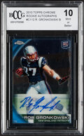 Football Cards:Singles (1970-Now), 2010 Topps Chrome Rookie Autographs Rob Gronkowski #C112 BCCG Mint or Better 10....