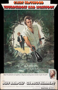 """Movie Posters:Crime, Thunderbolt and Lightfoot (United Artists, 1974). Folded, Fine-. Cardboard Standee (Approx. 38"""" X 58"""") Ken Barr Artwork. Cri..."""
