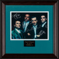 """Movie Posters:Crime, Goodfellas (1990s). Very Fine. Autographed Framed Photo (Approx. 15.25"""" X 15.25""""). Crime.. ..."""