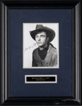 """Movie Posters:Western, Montgomery Clift in Red River (United Artists, 1948). Very Fine+. Signed Framed and Matted Portrait Photo (16.5"""" X 21.5""""). W..."""