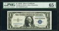 Small Size:Silver Certificates, Fancy Serial Number 55555518 Fr. 1608 $1 1935A Silver Certificate. N-A Block. PMG Gem Uncirculated 65 EPQ.. ...
