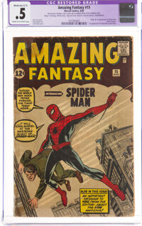 Amazing Fantasy #15 Incomplete (Marvel, 1962) CGC Apparent PR 0.5 Moderate (C-3)Cream to off-white pages