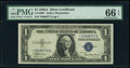 Small Size:Silver Certificates, Fr. 1608* $1 1935A Silver Certificate. PMG Gem Uncirculated 66 EPQ.. ...