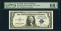 Fr. 1613W* $1 1935D Wide Silver Certificate Star. PMG Gem Uncirculated 66 EPQ