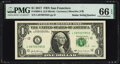 Small Size:Federal Reserve Notes, Radar Serial Numbers 58688685 and 58700785 Fr. 3004-L $1 2017 Federal Reserve Notes. PMG Graded Superb Gem Unc 67 EPQ; Gem Unc... (Total: 2 notes)