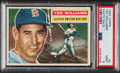 Baseball Cards:Singles (1950-1959), 1956 Topps Ted Williams (White Back) #5 PSA Mint 9 - Only One Higher. ...