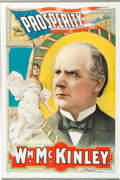 Political:Posters & Broadsides (1896-present), William McKinley: One of the Very Best Political Posters from the Golden Age of American Color Lithography. ...
