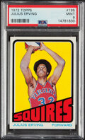 Basketball Cards:Singles (1970-1979), 1972 Topps Julius Erving #195 PSA Mint 9 - Only One Higher. ...