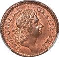 Colonials, 1724 1/2 P Hibernia Halfpenny MS66 Red and Brown PCGS. M. 4.73-L.2, W-13730, R.5....