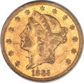 Liberty Double Eagles, 1885-CC $20 XF45 PCGS. CAC. Variety 1-A....