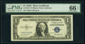 Small Size:Silver Certificates, Fr. 1615* $1 1935F Silver Certificate Star. PMG Gem Uncirculated 66 EPQ.. ...