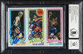 Basketball Cards:Singles (1980-Now), Signed 1980 Topps Bird/Erving/Johnson (Autographed by All Three) BAS Auto 10....
