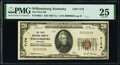 National Bank Notes:Kentucky, Williamsburg, KY - $20 1929 Ty. 1 The First National Bank Ch. # 7174 PMG Very Fine 25.. ...