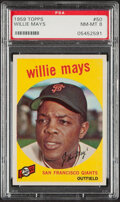 Baseball Cards:Singles (1950-1959), 1959 Topps Willie Mays #50 PSA NM-MT 8....