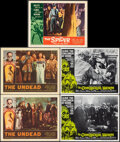 """Movie Posters:Horror, The Undead & Other Lot (American International, 1957). Overall: Very Fine-. Lobby Cards (5) (11"""" X 14"""") Albert Kallis Artwor... (Total: 5 Items)"""