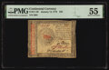 Continental Currency January 14, 1779 $45 PMG About Uncirculated 55