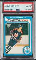 Hockey Cards:Singles (1970-Now), 1979 O-Pee-Chee Wayne Gretzky Rookie #18 PSA EX-MT 6....