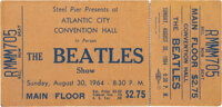The Beatles Atlantic City Convention Hall Unused Concert Ticket Plus Photo (Steel Pier, 1964)