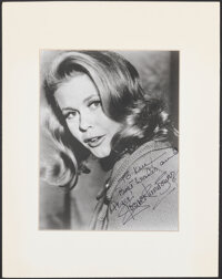 """Elizabeth Montgomery (1970s). Very Fine. Signed and Matted Publicity Photo (11"""" X 14""""). Photo"""