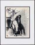 """Movie Posters:Action, Lee Marvin in Cat Ballou (1970s). Very Fine-. Signed and Matted Publicity Photo (11"""" X 14""""). Action.. ..."""
