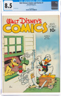Golden Age (1938-1955):Cartoon Character, Walt Disney's Comics and Stories #7 (Dell, 1941) CGC VF+ 8.5 Off-white to white pages....