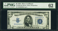 Fr. 1650 $5 1934 Silver Certificate. PMG Uncirculated 62