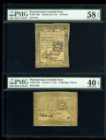 Colonial Notes:Pennsylvania, Five Moderately Circulated Pennsylvania Issues.... (Total: 5 notes)