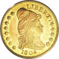 Early Quarter Eagles, 1804 $2 1/2 14 Star Reverse MS62 PCGS....