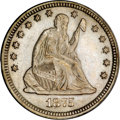 Seated Quarters, 1875-CC 25C MS63 PCGS....