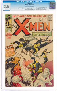X-Men #1 (Marvel, 1963) CGC GD+ 2.5 Off-white to white pages