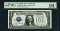 Small Size:Silver Certificates, Fr. 1602 $1 1928B Silver Certificate. X-A Block. PMG Choice Uncirculated 64 EPQ.. ...