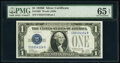 Small Size:Silver Certificates, Fr. 1602 $1 1928B Silver Certificate. PMG Gem Uncirculated 65 EPQ.. ...