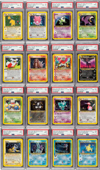 Pokémon First Edition Neo Revelation Set Rare Complete Trading Card Set (Wizards of the Coast, 2001) PSA Grades V...