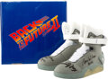 Movie/TV Memorabilia:Autographs and Signed Items, Back to the Future Part II Shoes Signed by Four Cast Members....