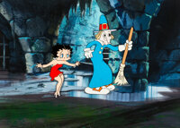 Mother Goose Land Betty Boop and Mother Goose Colorized Production Cel and Master Background (Fleischer