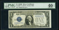 Small Size:Silver Certificates, Fr. 1602* $1 1928B Silver Certificate Star. PMG Extremely Fine 40 EPQ.. ...